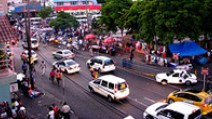 A busy road in Kingston, Jamaica. - Photo: Flickr/Dubdem Sound System
