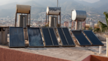 Solar thermal collectors for water heating on the roofs of a building in Alanya, Turkey. - Photo: Shutterstock